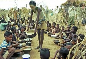 Utdelning av mat Etiopien